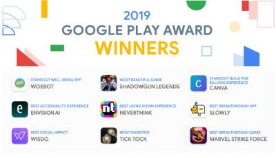 Названы лучшие приложения 2019 года по версии Google