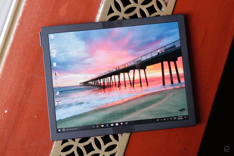 Lenovo представила ноутбук с гибким дисплеем и без клавиатуры
