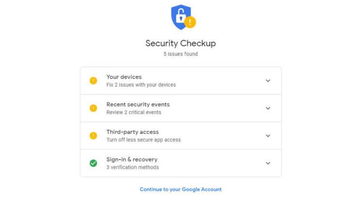 Как узнать, хорошо ли защищен ваш Google-аккаунт