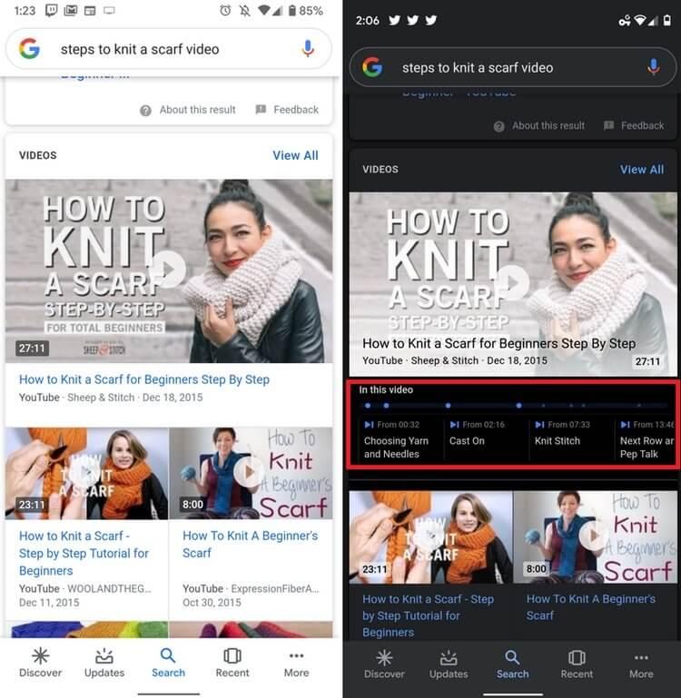 Новая функция Google Поиска делает просмотр видео с YouTube намного удобнее