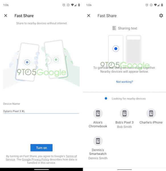Google добавит в Android функцию быстрой передачи данных на iPhone, часы и ноутбуки