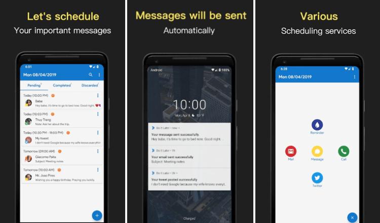 Как отправлять текстовые сообщения со смартфона по расписанию