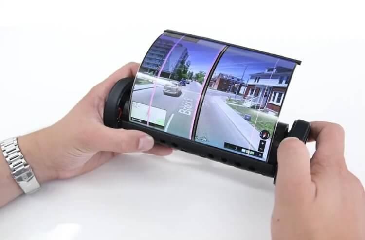 Sony делает смартфон, который можно будет свернуть в трубочку