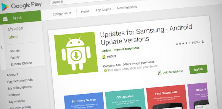 В Google Play вышло поддельное приложение для обновления смартфонов Samsung