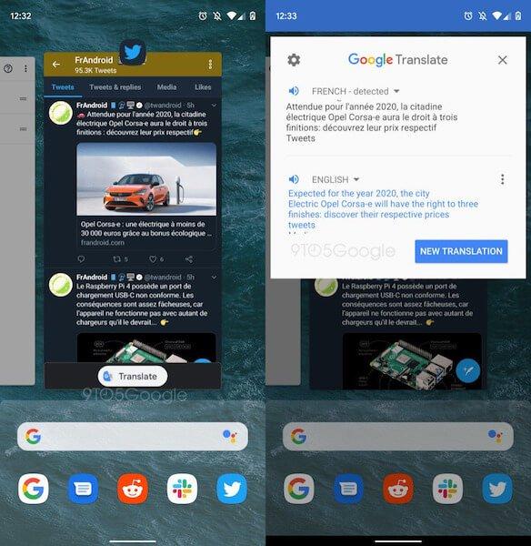 Google Translate станет системной функцией в Android Q