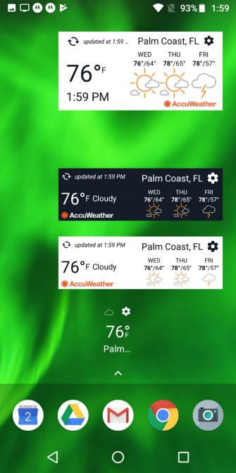 Лучшие погодные виджеты для Android
