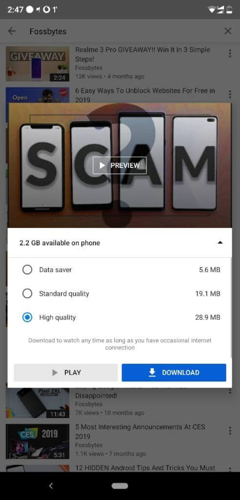 Как загрузить YouTube-видео на Android-смартфон